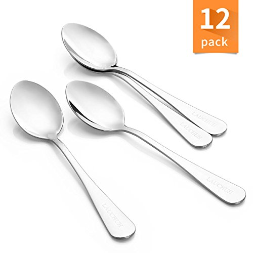 Teaspoon Set for Dessert Ramekins Stainless Steel Flatware Commercial Quality Heavy Duty, 5.5 inches set of 12