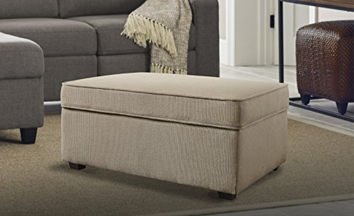 Serta Olin Ottoman with Storage, Beige