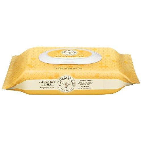 Burt's Bees Baby Chlorine-Free Wipes 72 Count, 1 Pack