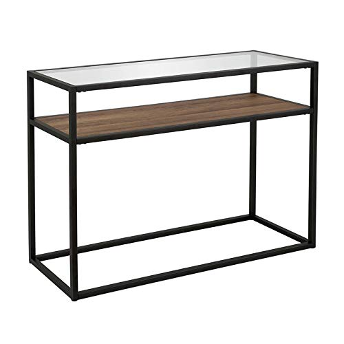 Henn&Hart Classic Glass and Wooden Console Table (Console Classic Table)