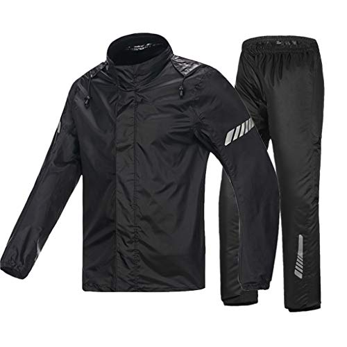 LAXF-Rain Suit Waterproof Rain Jacket Cycling Rainwear Fishing Raincoats Outdoor Sports Rain Suit Premium Quality Durability Waterproof for Traveling All Wet Weather