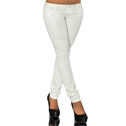 Sexy Ladies Trousers Women's Skinny Hipsters Jeans Size 4, 6, 8, 10, 12 US (XL US 12, White) - Hipster Jeans For Women