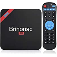 Brinonac BN8S Smart Android 7.1 TV Box Amlogic S905w Quad Core 4K HD Player with Wifi 2G RAM 16G ROM