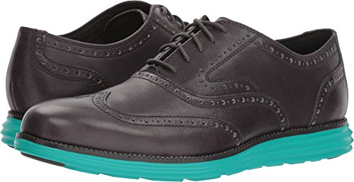 Cole Haan Men's O. Original Grand Short Wing OX II Oxford, Magnet Leather/Pool Green, 11.5 Medium US by Cole Haan