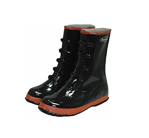Liberty DuraWear Rubber Fabric Lined Protective Arctic Men's Boot with 5 Buckles, Size 13, Black