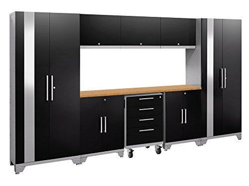 NewAge Products Performance 2.0 Black 9 Piece Set, Garage Cabinets, 53658