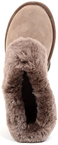 With Mink Wide Lightweight Sole Yet Sturdy Flexible Ladies Sheepskin Shoes boots vItt6w