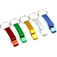AIRSUNNY 5pcs Keychain Bottle Opener - bartender bottle opener - Best Aluminum Bottle / Can Opener - Compact, Versatile & Durable - Vibrant Colors - Pocket Small Bar Claw Beverage Keychain Ring