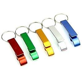 AIRSUNNY 5pcs Keychain Bottle Opener – bartender bottle opener – Best Aluminum Bottle/Can Opener – Compact, Versatile…