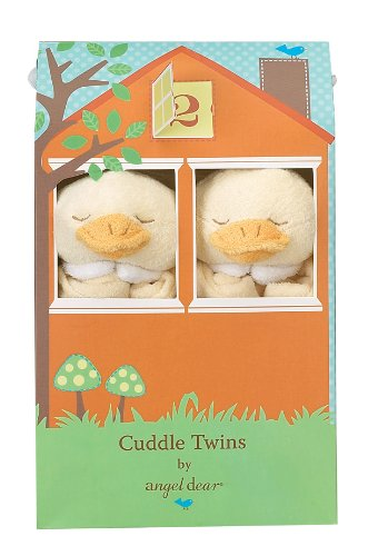 Angel Dear Cuddle Twin Set, Yellow Duck (Dear Duck)