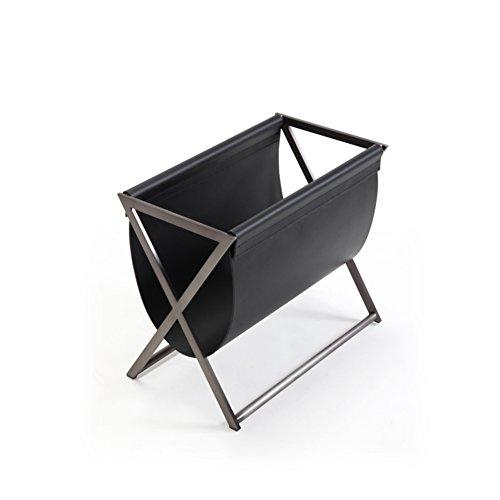 - GX&XD Metal Leather Newspaper and Magazine Rack,Newspaper Rack Simple Modern Living Room Magazine Storage Basket Storage Shelf Sofa Stainless Steel-A 50x30x43cm(20x12x17)