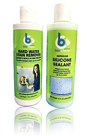 Agua dura quitamanchas (10 oz) sellador de silicona cartucho (8oz): Bio Clean: Amazon.es: Hogar