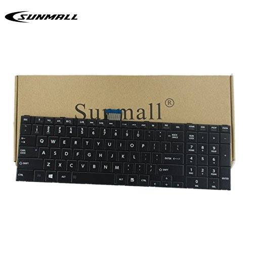 SUNMALL Keyboard Replacement for Toshiba Satellite C50 C50-A C55 C55-A C55D C55D-A C55T C55DT C55DT-A C55DT Series Laptop, fits Part Number V143026CS1 132412258 Black US Layout (6 Months Warranty)
