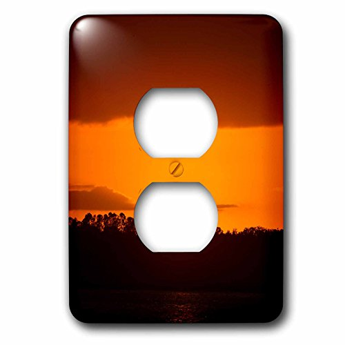 3dRose Sven Herkenrath Nature - Sunset Sunrise with Sun in the Front Holiday Travel - Light Switch Covers - 2 plug outlet cover (lsp_266253_6) by 3dRose