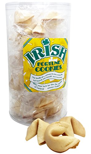 Creative Cookies Irish Gourment Gift St Patricks Day Party Snacks, 28 Fortune Cookies, Kosher Nut Free
