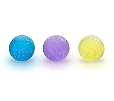 Grip Balls ( Set of 3 ) Hand and Finger Strengthener Exercise Ball with Bonus 4K Ebook