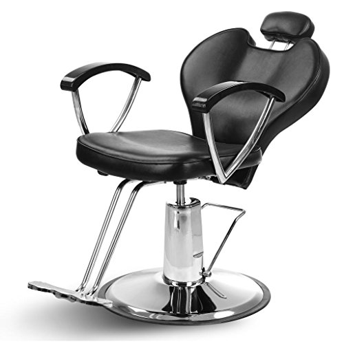 "ARTIST HAND Hydraulic Reclining Barber Chair 20"" Width Hair Styling Chair Salon Shampoo Spa Equipment"