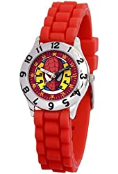 Marvel Kid's MA0103-D2783-RedRubber Marvel Spider-Man Classic Time Teacher Watch