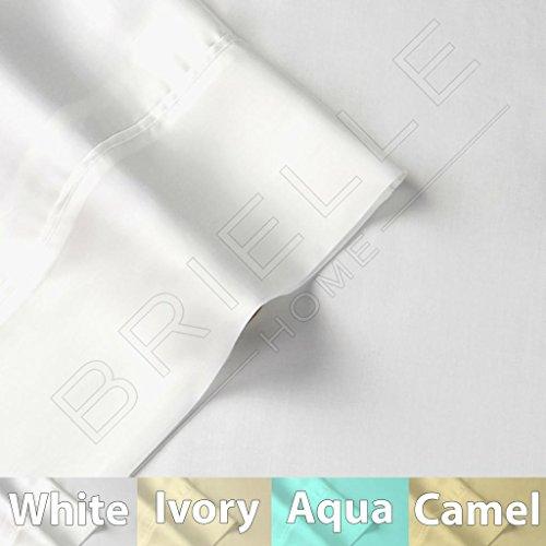 Brielle Tencel Sateen Sheet Set, Queen, White
