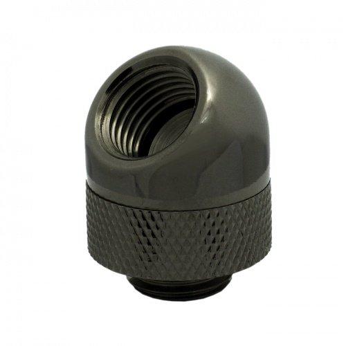 "XSPC 45 Degree Rotary Adapter Fitting, G1/4"" Threads (Black Chrome Finish)"