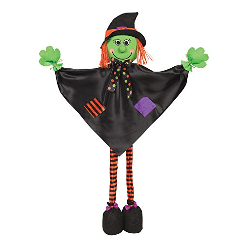 Amscan 670578 Friendly Standing Witch Decoration, Green