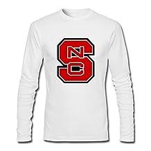 HEJX Man Ncaa NC State Wolfpack Custom Long-Sleeve T-Shirt White XS