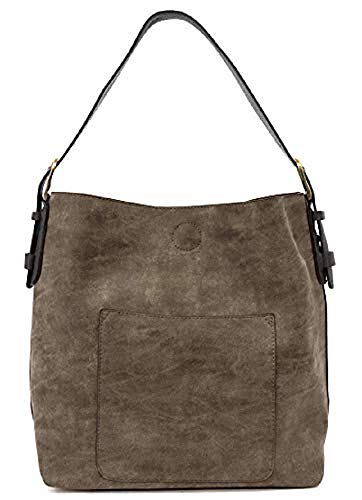 Joy Susan Classic Hobo Handbag (Espresso Lux Black Handle)