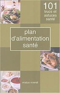 Book's Cover ofPlan d'alimentation santé