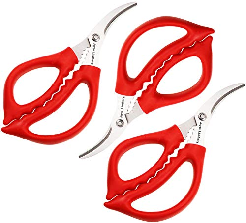 Joyce Lindberg Seafood Scissors for Kitchen Seafood Fish Crab Shrimp Lobster Scissors Set of 3