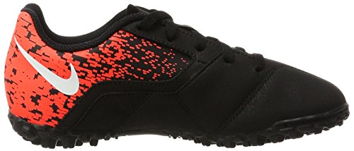 NikeBombax Tf - Zapatillas de Fútbol Entrenamiento  Unisex Niños Negro (Black / White-Total Crimson)