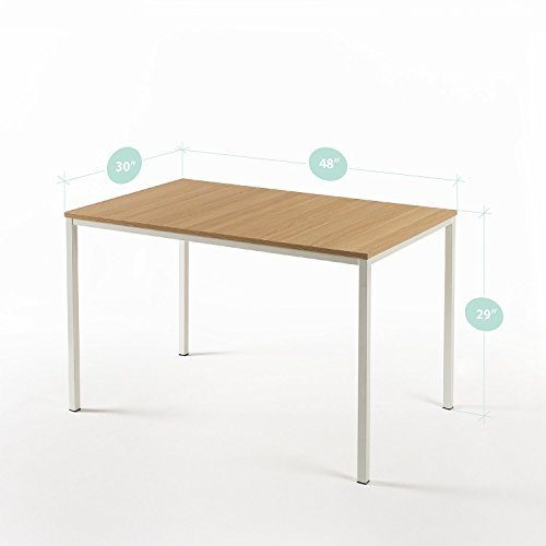 Zinus Dessa Modern Studio Collection Soho Dining Table / Office Desk / Computer Desk / Table Only, White by Zinus (Image #2)
