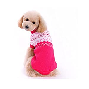 WEUIE Clearance Sale Pet Dog Sweater Winter Clothing Puppy Wear(XS,Pink)