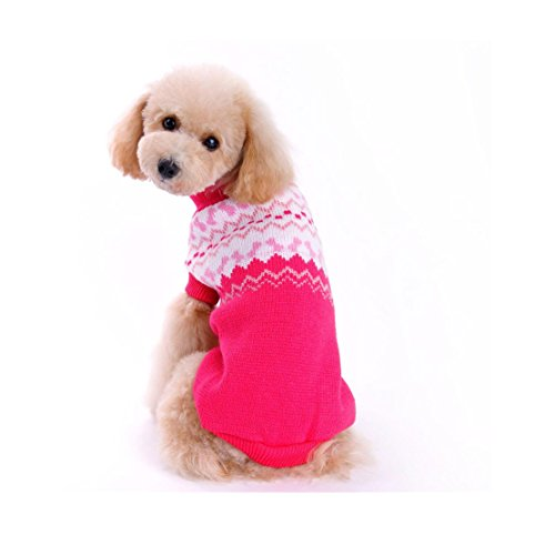 Best deals WEUIE Clearance Sale Pet Dog Sweater Winter Clothing Puppy Wear( ,Pink)