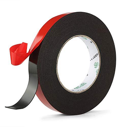1 Pack PE Foam Double Sided Tape, Waterproof