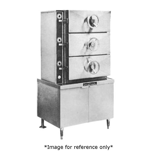Crown EC-2 Pressure Steamer with Electric Heated Boiler, Two Compartments & 36