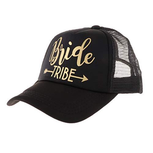 Prettyia Wedding Bride Tribe Caps Hat Baseball Cap Party Gift - Black