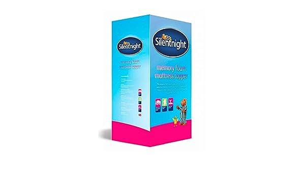 Capa de espuma viscoelástica para colchón Silentnight de 3 cm, poliuretano, Blanco, Matrimonio Reino Unido (150 x 200 cm): Silentnight: Amazon.es: Hogar