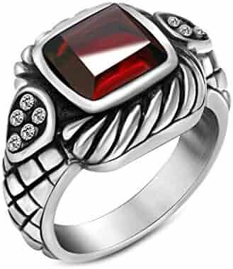 Moonga//Munga Stone Panchadhatu Ring for unisex Red Coral Ring 7.5 Ct.//8.25 Ratti Red Moonga by GEMS HUB