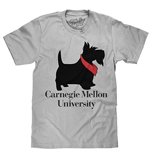 Carnegie Mellon University T-Shirt - Carnegie Mellon Scotty Dog Shirt (Medium) Silver