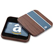 Amazon.ca $100 Gift Card in a Brown & Blue Tin (Classic Blue Card Design)
