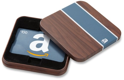 (Amazon.com $100 Gift Card in a Brown & Blue Tin (Classic Blue Card Design))