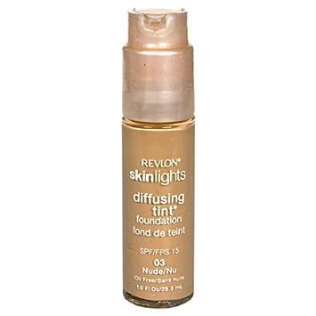 Revlon SkinLights Diffusing Tint Foundation, SPF 15, Nude 03, 1 Fluid Ounce 29.5 ml