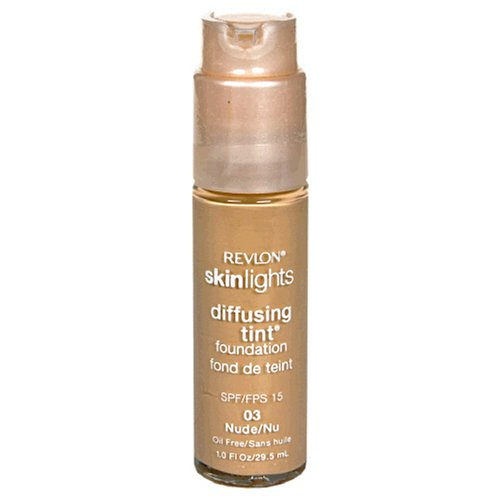 Revlon SkinLights Diffusing Tint Foundation, SPF 15, Nude 03, 1 Fluid Ounce (29.5 ml)