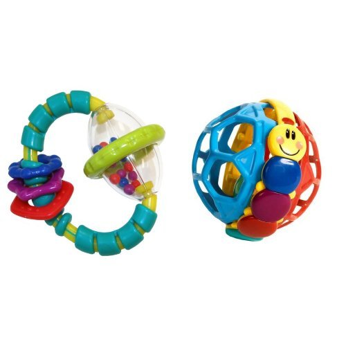 Bright Starts Grab and Spin Rattle and Bendy Ball