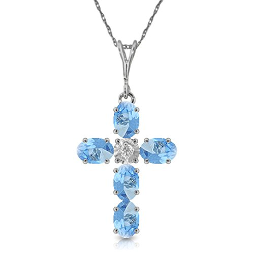 Topaz Cross Blue Peridot - 1.75 CTW 14k 24