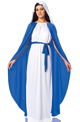 [8eighteen Religious Biblical Virgin Mary Adult Costume] (Girls Virgin Mary Costume)