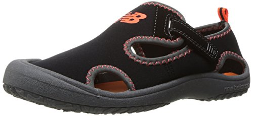 New Balance Boys' Kids Cruiser Sandal Water Shoe, Black/Orange, I10 ()