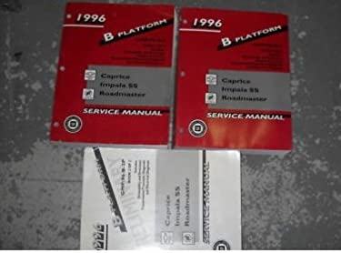 1996 chevy caprice impala ss service shop manual set 96 2 volume rh amazon com 1996 Chevy 1996 Chevy