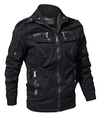 Chaqueta Jacket Betrothales Sport Pocket Hombres Algodón Bomber Moda Piloto Cazadoras Abrigos Jacket Multi Chaquetas Color Schwarz Otoño Hombres Sweat 3XL Classic Jacket Hombres 3 Size OwOCqZ