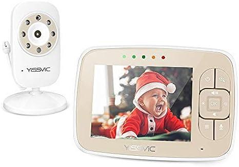 Vigilabeb/és con c/ámara de Vigilabeb/és Inalambrico Beb/é Monitor Inteligente con LCD 3.2 Pulgadas y C/ámara Visi/ón Nocturna